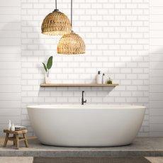 Ege Metro white 10x20 Плочки за баня и гръб на кухня